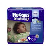 Huggies Overnites Nappies, Jumbo Pack, Size 4, 10-17kg, 27 ea, 1 pack
