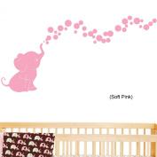 Elephant Bubbles Nursery Wall Decal Set