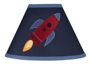 Rocket Ship Navy Blue Lamp Shade for Space Galaxy Bedding Collection