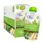 Plum Organics Baby Stage 3 Organics Baby Food, Quinoa & Leeks with Chicken and Tarragon 120ml
