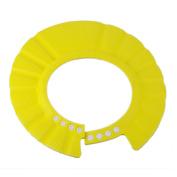 Baby Kids Soft Shampoo Bath Shower Cap Hat Waterproof Shield for Children Yellow