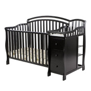 Dream on Me Hailee 3in1 Crib and Dressing Table Combo Black