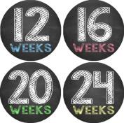 Chalkboard Pregnancy Belly Photo Stickers