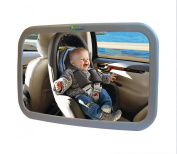 Baby Back Seat Mirror - Rear View Safety Mirror by BabyBahor - Safer & Stressless Driving - Comfortably Watch Your Little Angel In-Car with this Adjustable Convex Mirror - . Wide Angle Convex & 360° Adjustable Design allows Full Sight of R ..