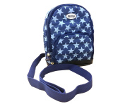 Nuby Quilted Backpack Harness, Navy Stars
