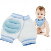Breathable Unisex Infant Toddler Baby Kneepads Knee Pad Crawling Safety Protector Toddler Crawling knee Blue