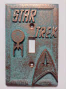 Star Trek Stone/Copper/Patina Light Switch Cover (Custom)
