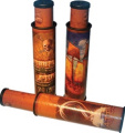 Childrens Collapsible Pirate Kaleidoscope Toy Telescope Spyglass