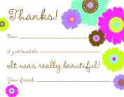 Blooming Time Kids Fill-in Thank You Cards