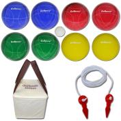 GoSports Backyard Bocce Set with 8 Balls, Pallino, Case and Measuring Rope