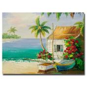Trademark Fine Art Key West Breeze by Master's Art Canvas Wall Art, 46cm x 60cm