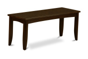 East West Furniture PFB-CAP-W Dining Bench with Wood Seat, Cappuccino Finish