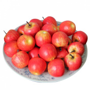 Voberry® 50 Pcs Home Furnishing Artificial Apple Plastic Ecorative Fruit Photographic Props