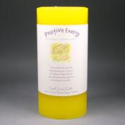 15cm x 7.6cm Crystal Journey Herbal Magic Reiki Charged Pillar Candle, Positive Energy