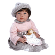 Paradise Galleries Toddler Baby Doll, Baby Jenna, 50cm Weighted Doll in Vinyl