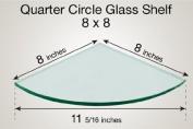 Quarter Circle Glass Shelf 8 x 8