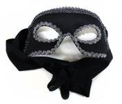 Dashing Black Silver Men's Masquerade Mask