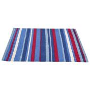 JoJo Maman Bebe Rug, Blue Stripe, X-Large