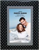 Brag Book With Frame 36 Pocket 10cm x 15cm -Black With White Dots