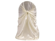 50 Universal Satin Self Tie Wedding CHAIR COVER - 8 Colours!