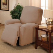 Tan Jersey Chair Stretch Slipcover, Couch Cover, Love Seat, Sofa, Recliner, Furniture Chair, Kashi Home