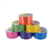 Bazic Fluorescent Coloured Duct Tape, Assorted Colours, Pack of 6, 4.8cm x 10 Yard