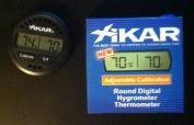 Xikar Round Digital Hygrometer