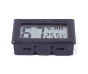 Black Digital LCD Thermometer Hygrometer Humidity Temperature Metre Indoor 02