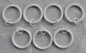 Urbanest Set of 7 3.8cm Metal Curtain Eyelet Rings, Glossy White