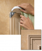 Easy Mount Instant Curtain Rod Holders - Set Of 8