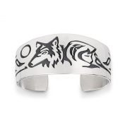Sterling Silver Maiden Wolf Clan Bracelet. Made in USA.