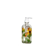 ArtisanStreet Sunflower Design Soap/Pump Lotion Dispenser, Hand Painted and Signed by Artisan