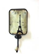 Wall Hook - Eiffel Tower & Le Figaro Newsprint Design