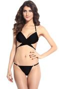 Dear-lover Women's Wrap Halter Top Panty Bikini Swimsuit