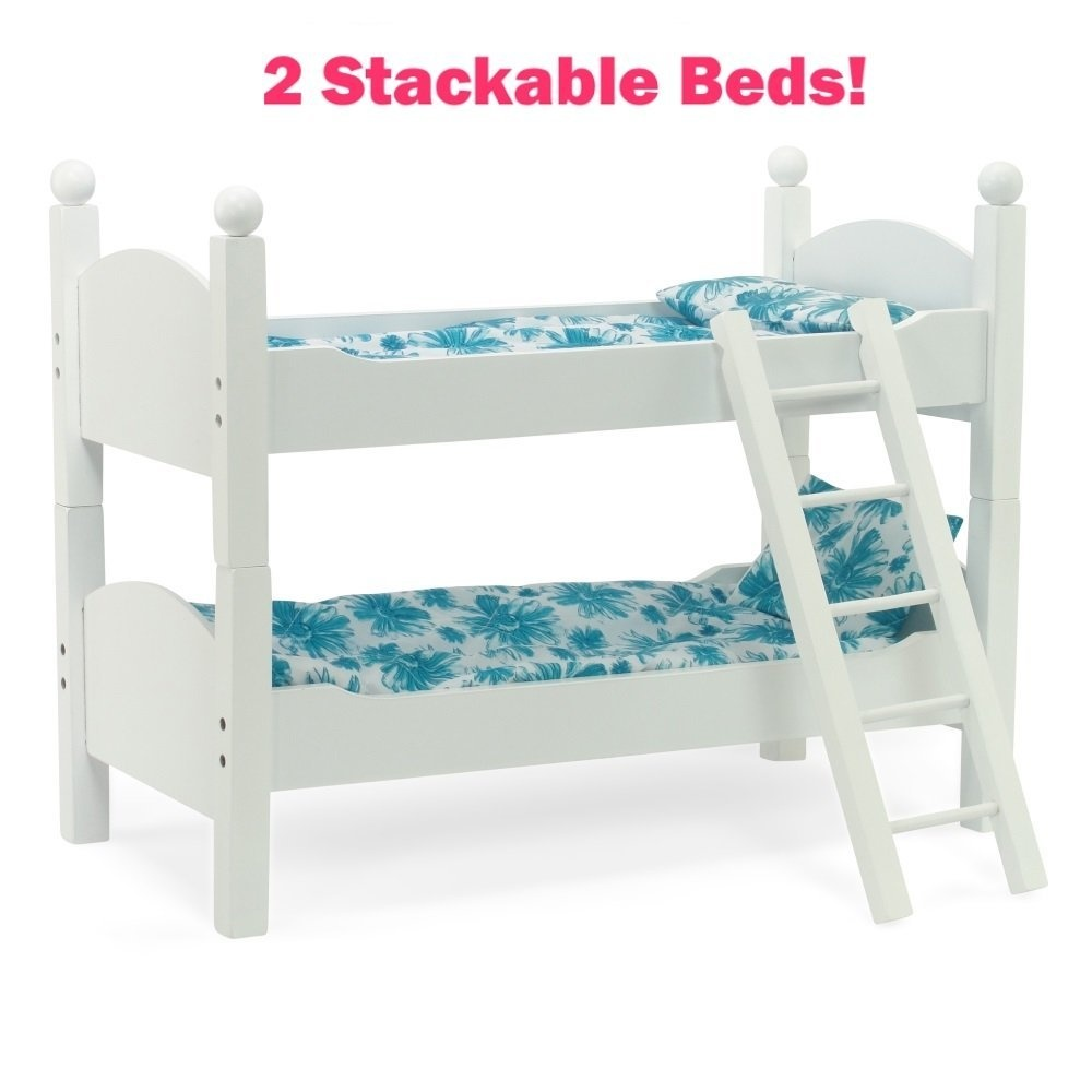 Qiyun Double Bed Toy 2pcs Bedroom Accessories Double Deck Bed Bunk