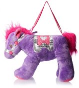 Olly & Friends Girls' Overnighter Carousel Horse with Sequin Accents