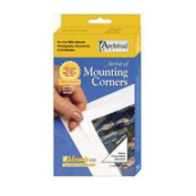 Lineco Self-Adhesive Polypropylene Mounting Corners - 3.2cm Clear