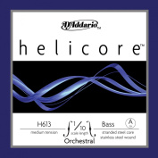 D'Addario Helicore Orchestral Bass Single A String, 1/10 Scale, Medium Tension