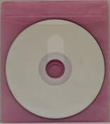 100 CD Double-sided Plastic Sleeve Pink
