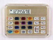 Gemstone Pocket Calculator in Gold