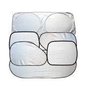 Brotechno 6pcs Folding Silvering Reflective Car Window Sun Shade Visor Shield Cover