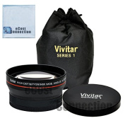 Vivitar Pro Series 67mm 0.43x Wide Angle High Definition Lens + eCost Microfiber Cloth for Pentax Zoom Telephoto 60-250mm f/4 ED DA* SDM Autofocus Lens, SMCP-DA 17-70mm f/4 AL (IF) SDM Autofocus Lens for Digital SLR, SMCP-DA* 50-135mm f/2.8 ED (IF) SDM ..