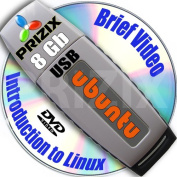 Ubuntu 15.04 on 8gb USB Stick Flash Drive and Complete 3-discs DVD Installation and Reference Set, 32 and 64-bit