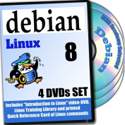 Debian 8, 4-discs DVD Installation and Reference Set