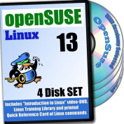 OpenSUSE 13.2 Linux, 4-discs DVD Installation and Reference Set