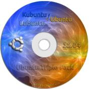 Ubuntu Linux 12.04 Three Pack - Ubuntu 12.04, Kubuntu 12.04, and Lubuntu 12.04 on One DVD