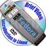 Fedora 21 on 8gb USB Stick Flash Drive and Complete 3-discs DVD Installation and Reference Set, 32 and 64-bit
