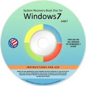 Windows 7 ANY Version 64 Bit Operating System Repair, Recovery, Restore, Re Instal, Reinstall, Fix, Boot Disc, DVD, Home Premium, Professional, or Ultimate, (DVD-ROM)DVD
