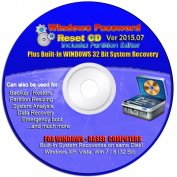LATEST VERSION 2015.07 Recovery Boot Password Reset CD Plus for Windows XP, Vista, 7, 8