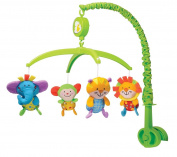 Musical mobile with smiling gorgeous baby animal teddies